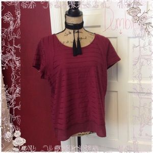 🦉The Limited burgundy stripe blouse🦉
